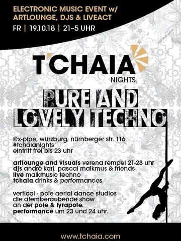 Flyer T'CHAIA nights